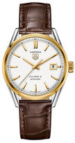 Tag Heuer Mens Carrera Calibre 5 Automatic Two Tone and Leather Watch