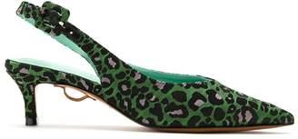 Blue Bird Shoes animal print slingback pumps