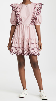 Endless Rose Eyelet Ruffled Mini Dress