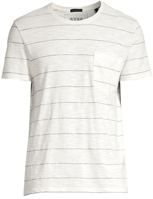 ATM Anthony Thomas Melillo Classic-Fit Stripe Jersey Pocket Tee