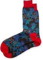 Bugatchi Men's Cotton-Blend Floral- Pattern Socks