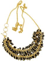 Mela Artisans Petals Black & Gold Necklace