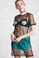 Forever 21 FOREVER 21+ Sequin Seashell Mesh Dress