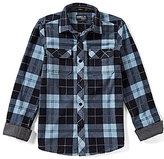O'Neill Big Boys 8-20 Glacier Plaid Long-Sleeve Shirt