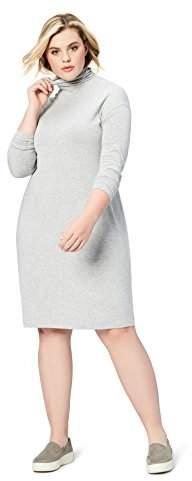 Amazon Brand - Daily Ritual Women\'s Plus Size Long-Sleeve Turtleneck Dress