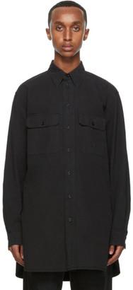 Lemaire Black Denim Military Shirt