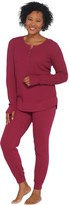 Anybody AnyBody Regular Cozy Knit Waffle Pajama Set