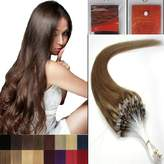 Hope 16'' Straight Loops Micro Ring Beads Tipped Human Hair Extenions 100S 10 Medium Ash Brown Women Beauty Hairsalon Style Design 0.4g/s
