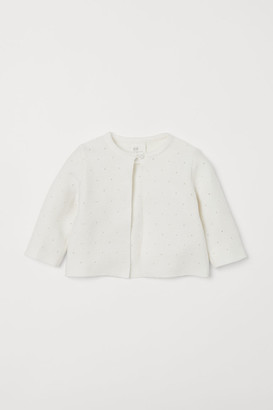 H&M Knit Cotton Cardigan - White