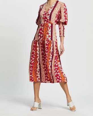 NEVER FULLY DRESSED Tangier Print Dakota Dress