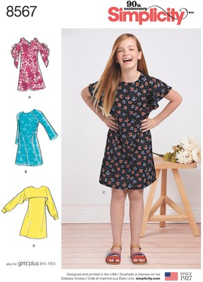 Simplicity Children's Dresses Sewing Pattern, 8567