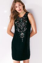 Ecote Jasmina Velvet Embellished Mini Shift Dress