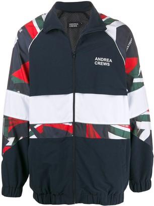 Andrea Crews panelled bomber jacket