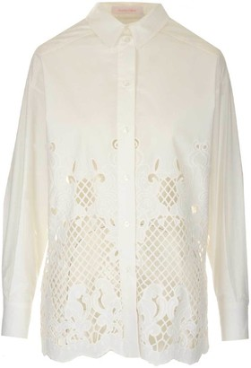 See by Chloe Lazer-Cut Detail Shirt
