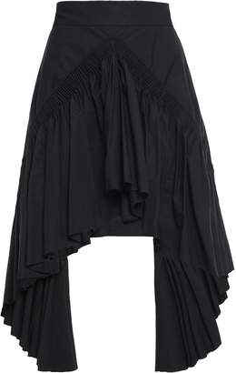 Kitx Asymmetric Gathered Cotton Skirt