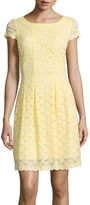 Ronni Nicole Cap-Sleeve Lace Fit-and-Flare Dress