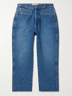 Loewe Wide-Leg Cropped Denim Jeans