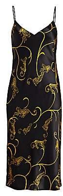 L'Agence Women's Jodie V-Neck Silk Slip Dress