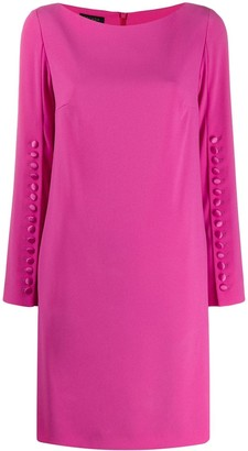 Escada Button Sleeved Dress