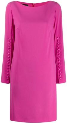 Escada button sleeved dress