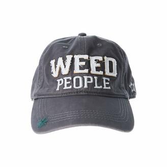 Pavilion Gift Company Weed People-Gray Adjustable Snapback Baseball Hat