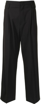 Solid Homme Straight Leg Trousers