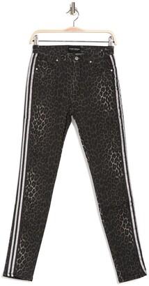 Black Orchid Gisele Leopard Print Stripe High Rise Super Skinny Jeans