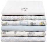 Piccolo Bambino 6 Pack Flannel Receiving Blankets