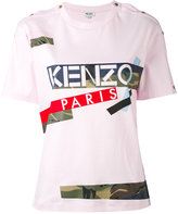 Kenzo Broken Camo T-shirt - women - Cotton - XS