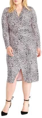 Rachel Roy Plus Brett Animal-Print Knee-Length Dress