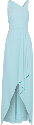 Halston Draped Crepe Gown