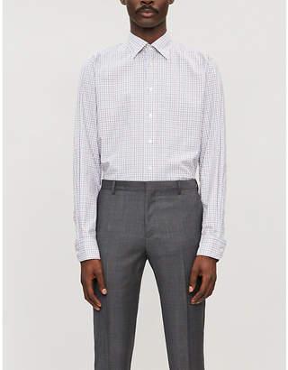 Eton Contemporary-fit check cotton-twill shirt