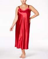 Thalia Sodi Plus Size Velour-Trimmed Nightgown, Only at Macy's