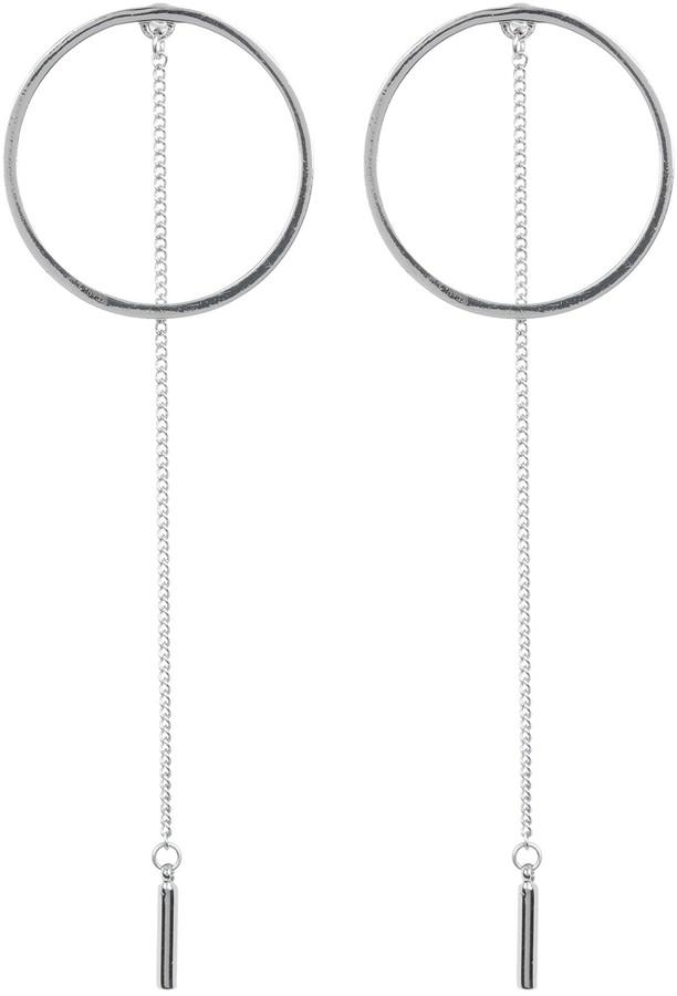 Steve Madden Small Circle & Chain Drop Earrings