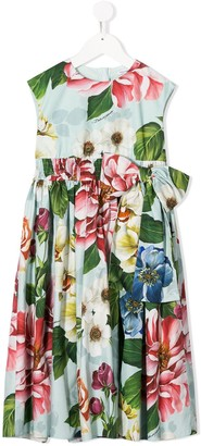 Dolce & Gabbana Floral Print Poplin Dress