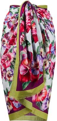 Dolce & Gabbana Large Floral Print Scarf