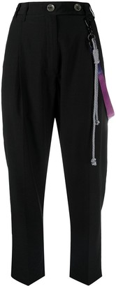 Song For The Mute Rope-Keychain Cropped Trousers