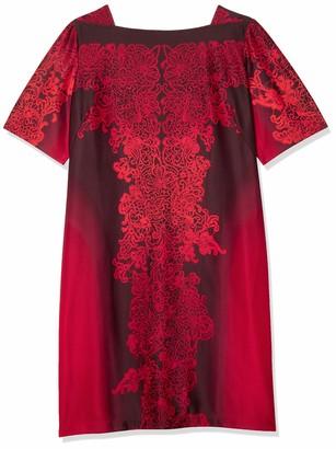 Gabby Skye Women's Plus Size Sheath Dress with Floral Print