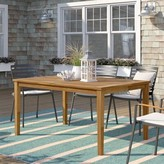 """Beachcrest Home Elaina Solid Wood Dining Table Size: 29.5"""" H x 60"""" L x 40"""" W"""