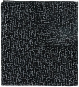 Saint Laurent twill Je t'aime printed scarf - men - Wool - One Size