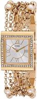 GUESS GUESS? U0140L2 Yellow Gold Tone Embellished Women's Watch