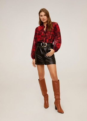 MANGO Floral print blouse red - 2 - Women