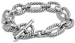 David Yurman Women's Cushion Link Chain Bracelet with Pavé Diamonds