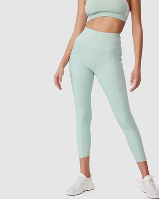 Cotton On Body Active - Women's Tights - Rib Pocket 7-8 Tights - Size S at The Iconic