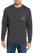 Vineyard Vines Men's 'Vintage Whale' Long Sleeve Pocket T-Shirt