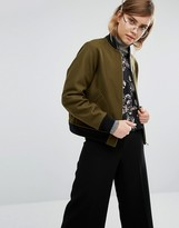 Gloverall Bomber Jacket in Melton Wool