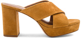Lola Cruz Cross Front Mule in Mustard