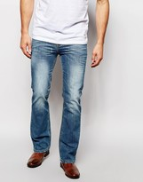 Asos Bootcut Jeans In Mid Blue