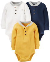 Carter's 3-Pack Thermal Long-Sleeve Bodysuits