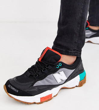 New Balance 801 Trail trainers in black Exclusive at ASOS